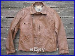 1930s half belt jacket, horsehide jacket, cape skin jacket, excl condt, rare