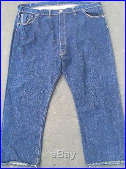1940 501 Rivets Vintage Levis Jeans Size 50-32