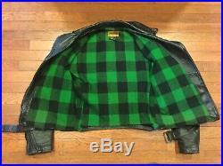 1940s Vintage Sears Hercules Horsehide Leather Motorcycle Jacket Talon Zips