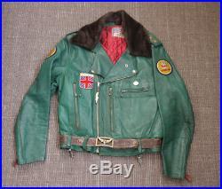 1950s BUD GANZ DESIGN AVIAKIT LEWIS LEATHERS CUSTOMISED GREEN BRONX JACKET