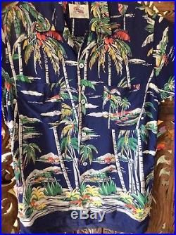 1950s Vintage Duke Kahanamoku Rayon Hawaiian Shirt Made by Cisco