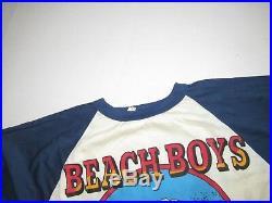 1970s Vintage Beach Boys US 1979 Tour Raglan Concert T Shirt 70s Band Raglan