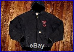 1992 Carhartt Stussy Tommy Boy records hoodie jacket vtg 90s hip hop rap shirt