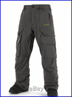 2016 NWT MENS VOLCOM TD2 SNOWBOARD PANTS $450 L vintage black tricot backing