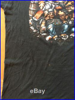3D Emblem 1987 Harley Davidson Ultra Rare Vintage T-shirt Party Animals XL