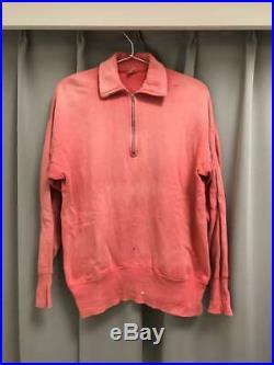 50s vintage sports wear half zip sweat men's size M Super rare old clothes Rare