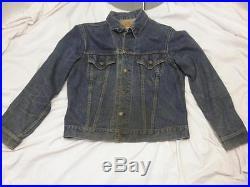 60s Vintage Levis Big E Denim Jean Trucker Two Pocket Jacket Size 42