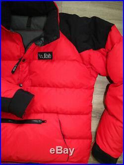80s Rab Kinder / Peak Men's Down Smock Jacket M Made in Sheffield, UK Vintage
