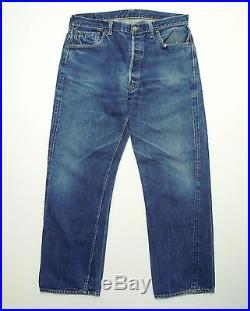 AUTHENTIC VINTAGE 1950 LEVIS 501 XX BIG E RIVETS WWII Rare Denim Jeans W36