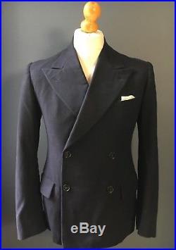 Arc 173 Vintage 1940's Burtons navy blue suit size 38