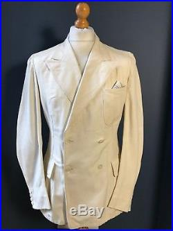 Arc 905 Vintage Palm beach double breasted 1930's summer suit size 38 long