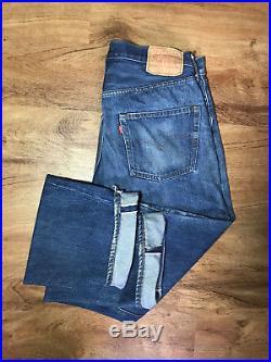 Authentic 70's 80's LEVI 501 XX Selvage Red Line Denim (36×36) USA jeans Vintage
