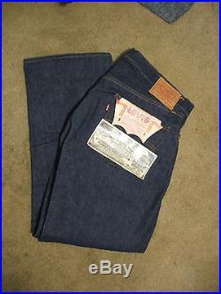 Authentic Vintage 1960's Levis 501 XX Indigo Denim Jeans Hidden Rivets NWT