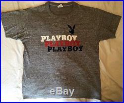 Authentic Vintage Playboy Heather Grey T-shirt XL (46)