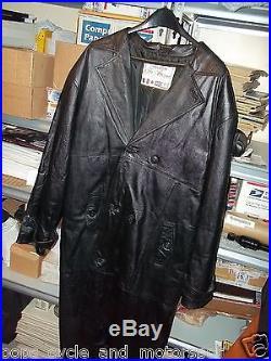 Black Genuine Leather Full Length Jacket Mens Vintage Style Clothing Coat