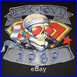 BON JOVI 1989 Concert Tour Shirt Tesla Motley Crue Def Leppard KISS Van Halen