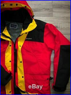 Berghaus Mera Peak Goretex Men's Jacket L RRP£389 Vintage Blue Waterproof Trango