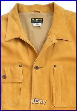 Billy Martin Jacket Men's XL Nubuck Leather Vintage 90's Western Jean Jacket USA