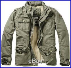 Brandit Britannia Winter Jacket Warm M65 Field Coat Mens Vintage Cotton Parka