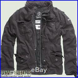 Brandit Jacke Britannia Vintage Schwarz Neu Herren Sommer Übergangsjacke Bw Army
