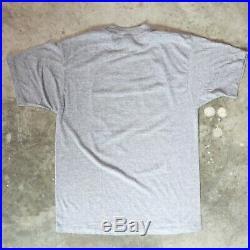 CAMEL Cigarette Vintage Rayon Tri Blend T Shirt Smoking Logo Gray Soft 1980s