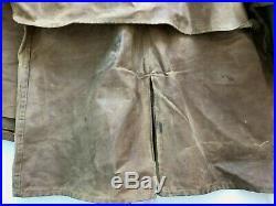 CC FILSON Vintage Tin Cloth Waxed Chore Jacket Style 61N Men's Size 46