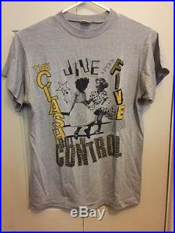 CLASH Out Of Control T Shirt (Original Vintage From 1984 Tour)