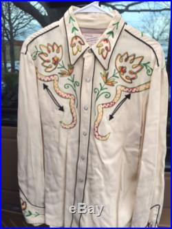 California Ranch Wear Vintage Western Shirt 40's Large