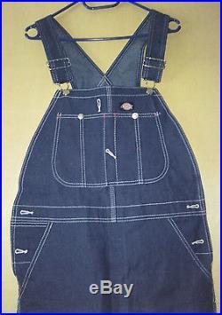 DICKIES INDIGO Overall Rockabilly Oldschool Latzhose Mens Denim Jeans Dungaree