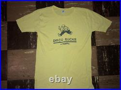 DISCO SUCKS Vtg 60s 70s Original Authentic band rock metal punk ramones T Shirt