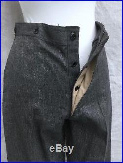 Deadstock Vtg Salt Pepper Chore Pants 1930 Work Pants 1940 Trousers 30 Work Pant