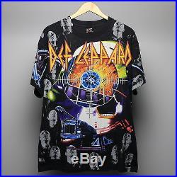 Def Leppard Shirt Vintage tshirt 1992 Album Collage All Over Print 90s Original