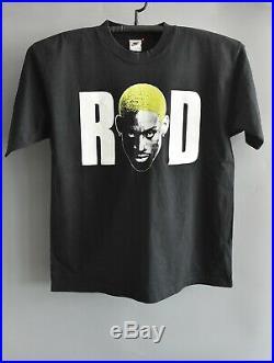 Dennis Rodman Vintage Black Cotton T Shirt Very Good Condition Large Sz