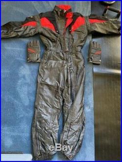 Descente Vintage Mens Charcoal/Hot Pink one piece zip up snow ski suit size XL