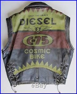 Diesel. Vintage. Leather Biker jacket. Waistcoat Early 90s. EU 54 (NEAR MINT)