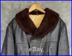 Estate Vintage 30's-40's Hercules Horsehide Barnstormer Jacket Shawl Collar L/XL