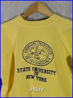 FIT Vintage 40s 50s Crewneck Athletic Sweatshirt Fashion Institute Of Technology