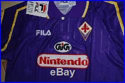 Fila Fiorentina Shirt 1997 1998 New Deadstock Vintage 90's Nintendo Football