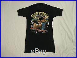 Harley Davidson 3D Emblem Hog Power Vintage 1988 80s thin T Shirt EX