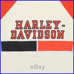 Harley Davidson Shirt Vintage tshirt 1970s Champion Blue Bar tee HD Biker 70s
