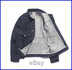Heavyweight 16oz Redline Denim Jeans Jackets Men's Vintage Coat Tops Clothing