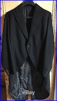 INCREDIBLE Vintage Huntsman Savile Row Bespoke Tailcoat Tuxedo 40 42