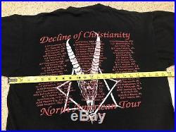 Incantation Vintage 1995 Tour Shirt XL Immolation Morbid Angel Deicide