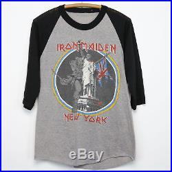Iron Maiden Shirt Vintage tshirt 1983 Brain Damage At The Garden Tour Rock Metal