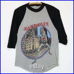 Iron Maiden Shirt Vintage tshirt 1985 Eddie Luvs Noo Yawk Tour Metal Band NYC