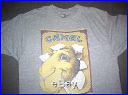 JOE CAMEL Vintage Rayon Tri Blend T Shirt Cigarettes Smoking 1980s Logo Soft med