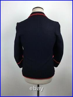 Jacket 1930s Blazer Rowing 30s Jacket VTG English Cricket Boating Jacket SZ S