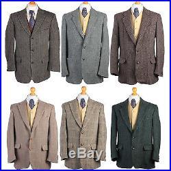 Job Lot Vintage Harris Tweed Jackets Wholesale X10 Pieces Grade A