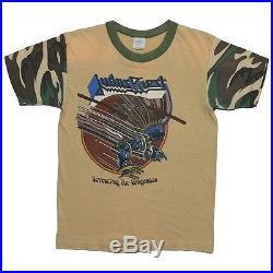Judas Priest shirt vintage tshirt Screaming For Vengeance 1983 Rare Camo Sleeves