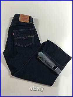 LEVIS 1955 LVC VINTAGE 501 28 x 30 SELVEDGE JEANS big E 555 Valencia Made in USA